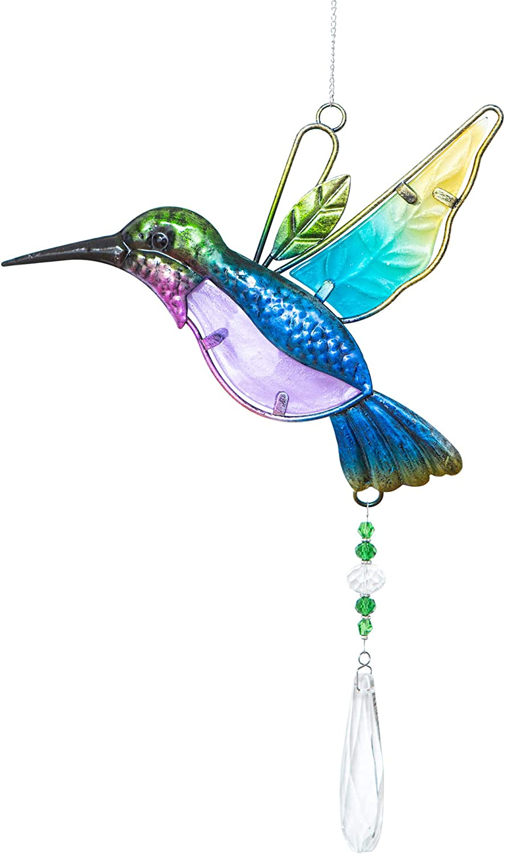 WEISIPU Crystal Suncatchers for Windows - Hummingbird Crystal Ball Prisms Hanging Crystals Ornament for Home Garden Office Wedding Christmas Decoration-Hummingbird : Patio, Lawn & Garden