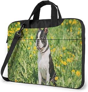 "Funny Young Boston Bull Terrier Dog Laptop Bag Protective Case Computer Messenger Briefcase Women Men 13"""