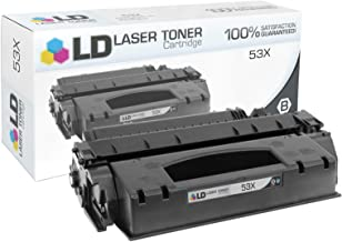 LD Compatible Toner Cartridge Replacement for HP 53X Q7553X High Yield (Black)