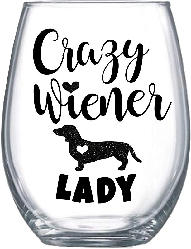 Funny Wiener Dog Gifts For Women 20oz Wine Glass For Her Dachshund Gifts 0052