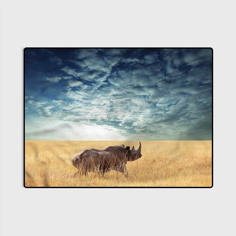 Soft New product!! Fluffy Bedroom Rugs Safari Rhino for Ki 5 popular Cloudy Dramatic Sky