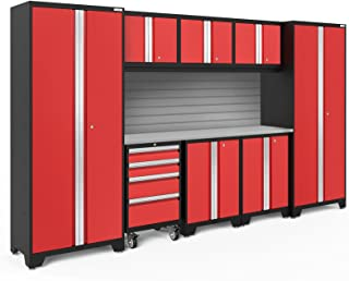 NewAge Products Bold 3.0 Red 9 Piece Set, Garage Cabinets, 56290