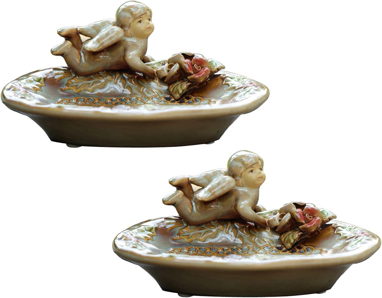 Vintage Angel Limited price Soap Milwaukee Mall Dish Ceramic Cherub Holder 5.4 Figurine