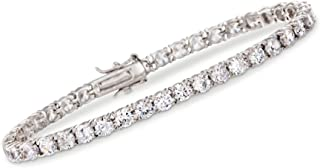 10.00-11.50 ct. t.w. CZ Tennis Bracelet in Sterling Silver