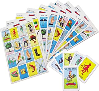 Original Loteria Game Set in Spanish, Mexican Loteria for 10 Players