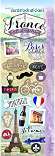 "Paper House Productions STCX-0208E Discover France Cardstock Stickers, 4.625"" by 13"", Multicolor"