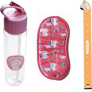 Llama Gift Set - Water Bottle, Ruler, Sleep Eye Mask - Great Girls Womens Gift Set