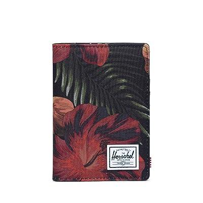 Herschel Supply Co. Raynor Passport Holder RFID (Tropical Hibiscus) Wallet Handbags