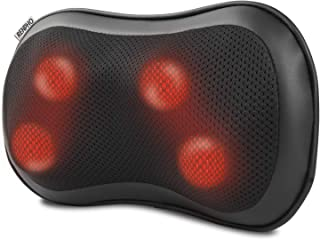 RENPHO Back Massager with Heat, Shiatsu Low Back Neck Massage Pillow, 3-Speeds with Net Cover Electric Shoulder Full Body Massage Pain Relief Gift for Mom/Dad