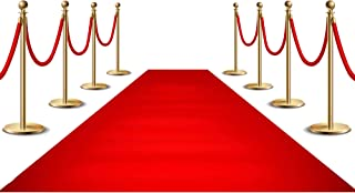 YoungLA Red Carpet Runner for Party, 2x15ft ,70GSM ,Hollywood Red Carpet Roll Out for Special Event, Glamorous Movie Theme...
