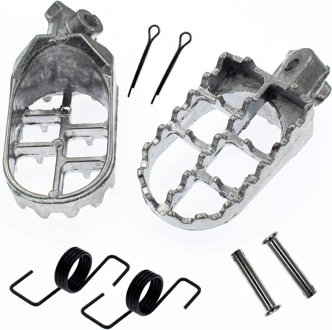 QAZAKY Foot Pegs Rest Footpegs Yamaha Compatible Large-scale sale Tulsa Mall PW80 with PW50