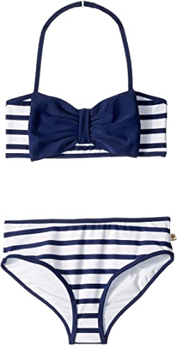 Stripe Bow Two-Piece (Big Kids)