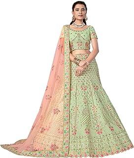 تنورة ليهينغا تشولي دوباتا الزفاف الهندي الاستقبال العروس غاغرا الفن الحرير غوتا & خيط ليهينغا شولي دوباتا 6229