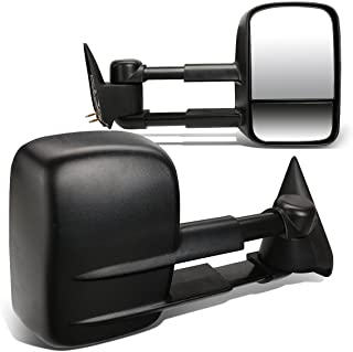 Best Pair Black Textured Manual Telescoping Folding Rear View Side Towing Mirrors Replacement for C/K Pickup C10 GMT400 88-02 Review