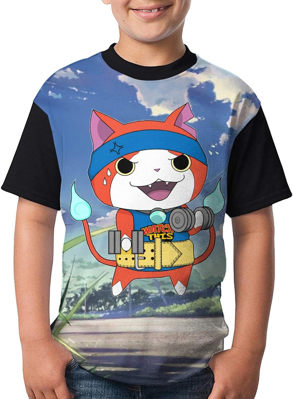 Yo-Kai Wa-Tch T-Shirt Boys Casual Short Sleeve Youth Round Neck Shirt Tee Kids Tops
