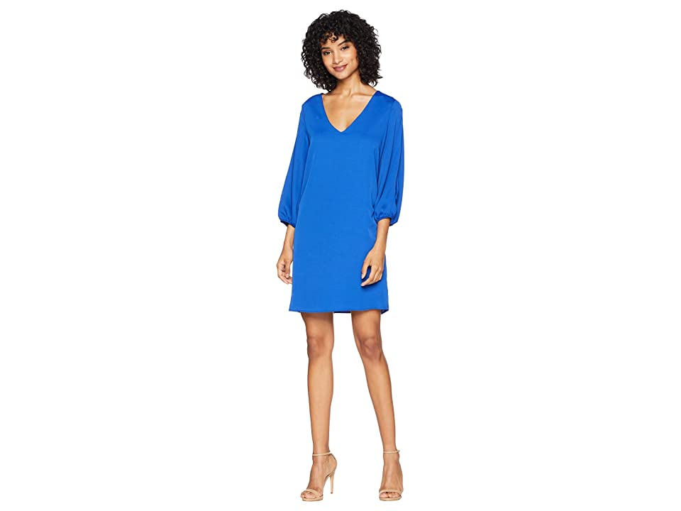 American Rose Kimora Shift Dress with Sleeve Cut Out (Blue) Women