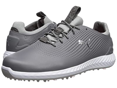PUMA Golf Ignite Power Adapt Leather (Quiet Shade/Silver/White) Men