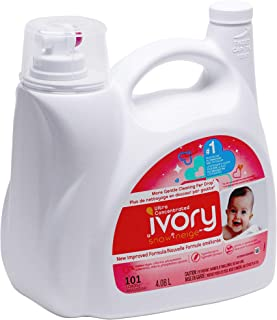 Ivory Snow Ultra Concentrated Hypoallergenic Baby Liquid Detergent 101 Loads, 138 Fl.OZ / 4.08 L