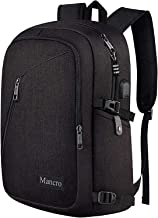 Mancro Business Travel Laptop Backpack, Anti Theft Slim Laptop Bookbag with USB Charging Port for men and women, Water Res...