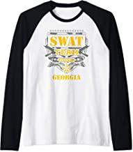 Georgia Police SWAT Team State Off Duty Officer Gift Raglan Baseball Tee