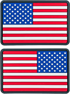 Helikon-Tex USA Small PVC Flag Patches (Set of 2) True Colors