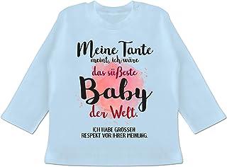 Shirtracer Sprüche Baby - Meine Tante Meint, ich wäre das süßeste Baby der Welt. - Baby T-Shirt Langarm