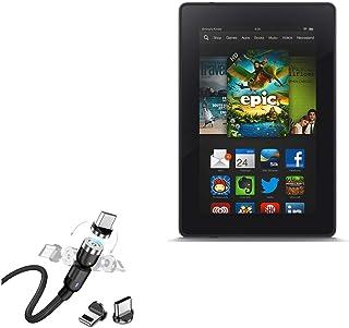 Cabo para Kindle Fire HD 7 (2ª geração 2012), BoxWave [MagnetoSnap AllCharge] Cabo de carregamento magnético USB tipo C Mi...