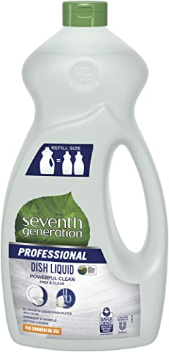 Seventh Generation Professional Dish Liquid Refill, Free & Clear, Unscented, Hypoallergenic for Sensitive Skin, 50 fl...