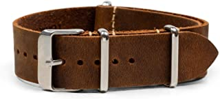 Benchmark Straps 18, 20, 22 & 24mm Oiled Leather NATO Watchband | 8 Colors