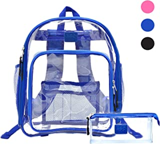 Heavy Duty Clear Backpack, See Through Bookbag, Transparent Work Travel Bag