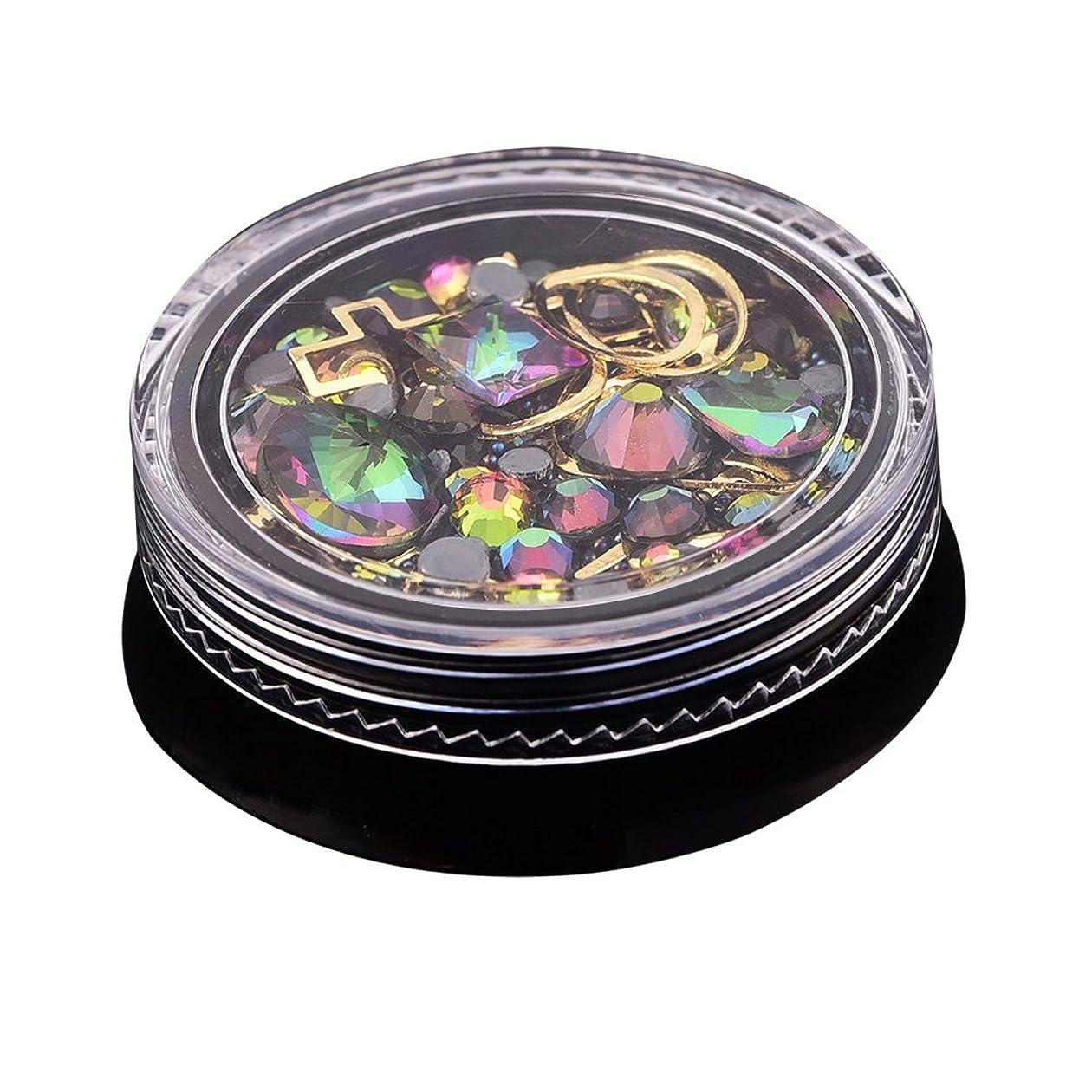 ハイライト脅かす価格WINOMO ネイルアート シール ネイルパーツ ステッカー 3D DIY ラインストーン ダイヤモンド クリスタル ストーン デコレーション レジン ジェルネイル 混在 mix ケース入 4cm 6#