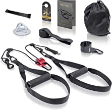 High Pulse® Sling Trainer Set (7-delig) – Uitgebreide sling trainer kit met katrol, deuranker, wandbevestiging, posters, d...