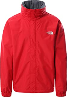 The North Face - Resolve Jacket for Men - Waterproof and Breathable Hiking Jacket - Red, XXL