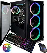 CUK Stratos Micro Gaming Desktop (Liquid Cooled Intel i7-9700K, 32GB DDR4 RAM, 1TB NVMe SSD + 2TB HDD, NVIDIA GeForce RTX 2070 Super 8GB, 600W Gold PSU, Windows 10 Home) Gamer PC Computer