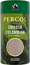 PERCOL SMOOTH COLOMBIAN Instant Coffee Easy Drinking Flavor 100% Arabica Beans Freeze-Dried - Light Strength 3.5 oz 1 Pk