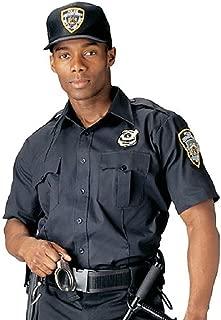 Men's Short Sleeve Police, Security Uniform Shirt, Navy Blue