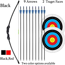 """iMay 45"""" Recurve Bow and Arrows Set Outdoor Archery Beginner Gift Longbow Kit with 9.."""