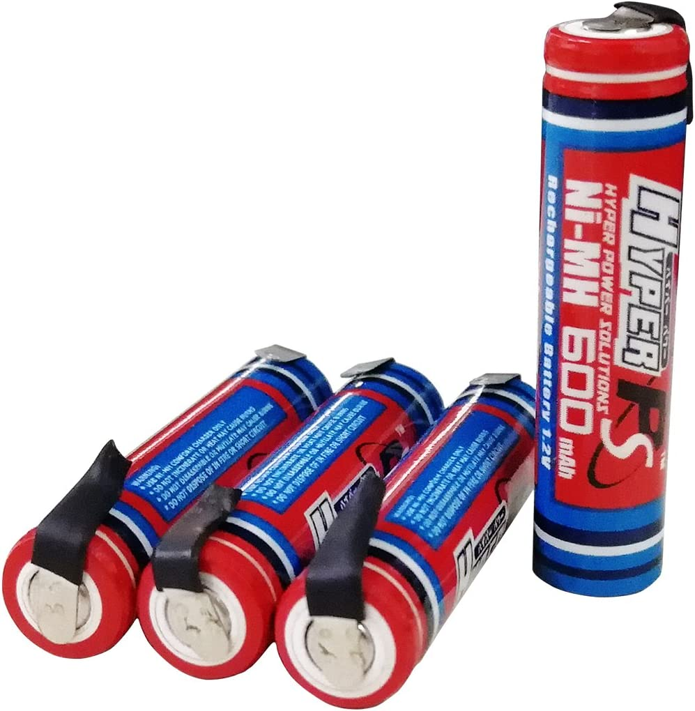 4-Pack HyperPS 1.2V AAA 600mAh Rechargeable Free Shipping Fashion New Battery Ni-MH for