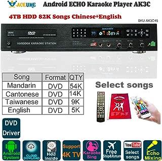 4TB HDD 87K Chinese,English Songs,Android Karaoke Player/Jukebox,Cloud download,DVD Driver,Microphone Port, ECHO mixing,Watch TV,KODI,YouTube Songs sing 卡拉OK點歌機,安卓播放器,云下載,國語,粵語,英語