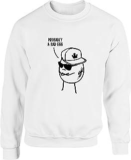Hippowarehouse Bad Egg Unisex Jumper Sweatshirt Pullover (Specific Size Guide in Description)