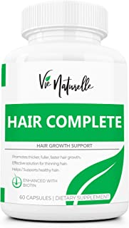 DHT Blocker Hair Growth Vitamins with Sal Palmetto for for Men and Women - Hair Loss Supplements for Rapid Regrowth with 5000mcg Biotin - for Hair, Skin and Nails
