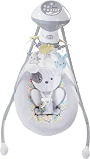 Cuna y balancín Sweet Snugapuppy Dreams Cradle n' Swing, color blanco, de la marca Fisher-Price