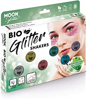 Biodegradable Eco Glitter Shakers by Moon Glitter - 100% Cosmetic Bio Glitter for Face, Body, Nails, Hair and Lips - 5g - ...