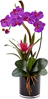 Nearly Natural Orchid and Bromeliad Silk Arrangement,