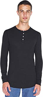 Men's Baby Thermal Henley Long Sleeve T-Shirt