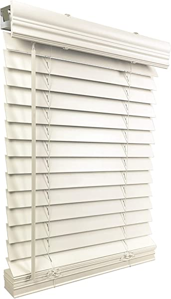US Window And Floor 2 Faux Wood 71 5 W X 60 H Inside Mount Cordless Blinds 71 5 X 60 White