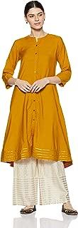 Women's Mustard Viscose Kurta