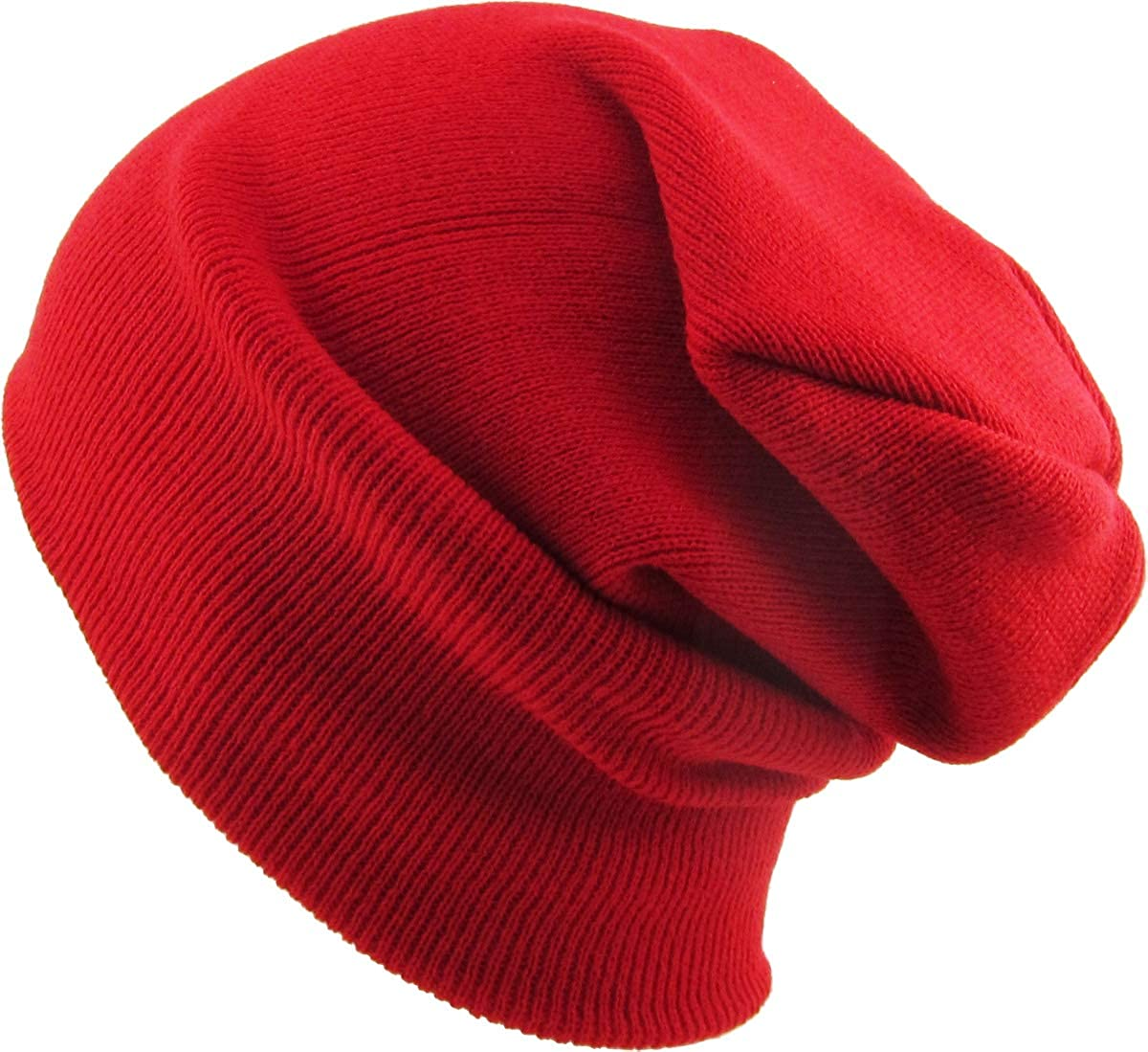 Thick and Warm Mens Daily Cuffed Beanie OR Slouchy Made in USA for USA Knit HAT Cap Womens Kids