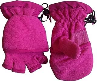 N'Ice Caps Kids Thinsulate Lined Winter Converter Fingerless Glove To Mitten