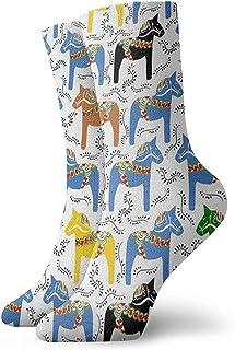 Dydan Tne, Niños Niñas Locos Divertidos Calcetines Dala Caballos Mejorados Calcetines Lindos de Vestir de Novedad